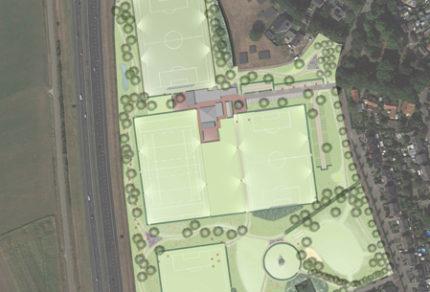 ontwerp sportpark Moleneind Uden